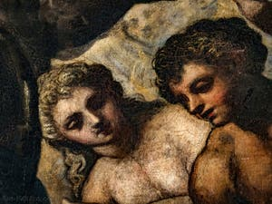 Le Paradis de Tintoret, Ève et Adam, au Palais des Doges de Venise