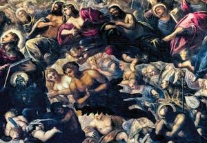 Le Paradis de Tintoret, Saint-Jean et son aigle, Ève et Adam, Saint-Thomas, au Palais des Doges de Venise