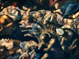 Le Paradis de Tintoret, anges et Saints du Paradis, au Palais des Doges de Venise