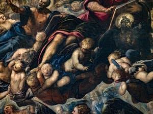 Le Paradis de Tintoret, saint Matthieu et l'aigle de saint Jean, au Palais des Doges de Venise