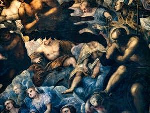 Le Paradis de Tintoret, saints et martyrs, au Palais des Doges de Venise
