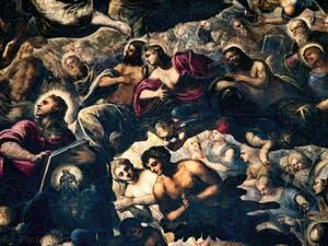 Le Paradis de Tintoret, Saint-Jean, Saint-Thomas, Saint-Philippe, Adam et Ève, au Palais des Doges de Venise