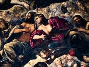 Le Paradis de Tintoret, Saints, Saint-Thomas, au Palais des Doges de Venise