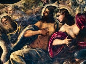 Le Paradis de Tintoret, les saints du Paradis, au Palais des Doges de Venise