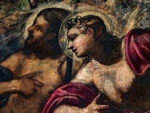 Le Paradis de Tintoret, portrait de saints du Paradis, au Palais des Doges de Venise