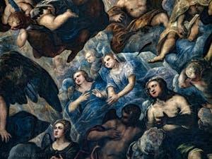 Le Paradis de Tintoret, les prières des anges, au Palais des Doges de Venise