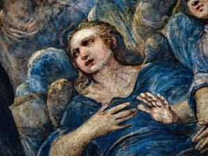 Le Paradis de Tintoret, ange en adoration, au Palais des Doges de Venise