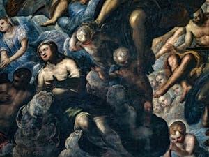 Le Paradis de Tintoret, anges et chérubins en adoration, au Palais des Doges de Venise