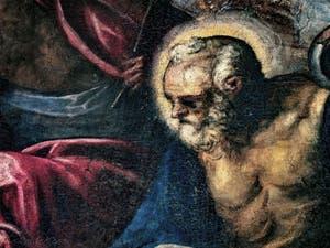 Le Paradis de Tintoret, l'apôtre Saint-Pierre, au Palais des Doges de Venise