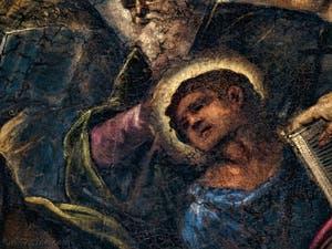 Le Paradis de Tintoret, portrait de Saint-Philippe, au Palais des Doges de Venise