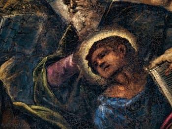 Le Paradis de Tintoret, portrait de saint Philippe, au Palais des Doges de Venise
