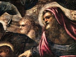Le Paradis de Tintoret, portrait de Saint-Barhélémy, au Palais des Doges de Venise