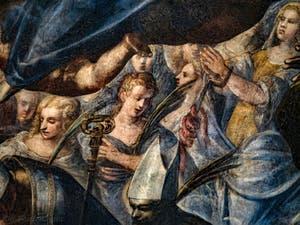 Le Paradis de Tintoret, Sainte-Christine et les martyres, au Palais des Doges de Venise