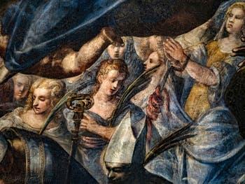 Le Paradis de Tintoret, sainte Christine et les martyres, au Palais des Doges de Venise