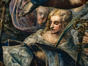 Détail d'une martyre du Paradis de Tintoret au Palais des Doges de Venise