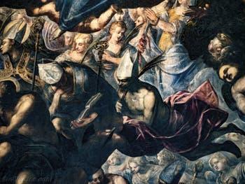 Le Paradis de Tintoret, evêques et saints martyrs, au Palais des Doges de Venise