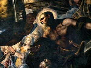 Le Paradis de Tintoret, Saint-Paul et son épée, au Palais des Doges de Venise