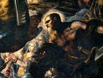 Le Paradis de Tintoret, saint Paul et son épée, au Palais des Doges de Venise