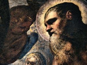 Le Paradis de Tintoret, portrait de l'apôtre Saint-Paul, au Palais des Doges de Venise
