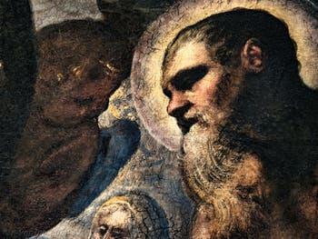 Le Paradis de Tintoret, portrait de l'apôtre saint Paul, au Palais des Doges de Venise