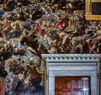 Le Paradis de Tintoret, saint Barthélémy, saint Pierre, saint Jérôme, saint Grégoire, saint Augustin, saint Paul, Rachel et saint Christophe, au Palais des Doges de Venise