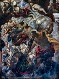 Le Paradis de Tintoret, Rachel et ses enfants et Saint-Christophe, au Palais des Doges de Venise
