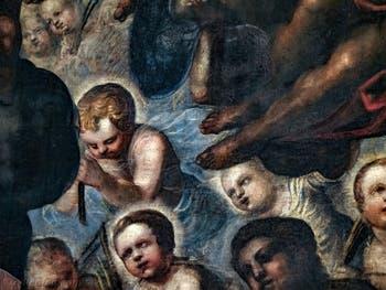Le Paradis de Tintoret, les enfants de Rachelle, au Palais des Doges de Venise