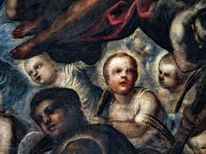 Le Paradis de Tintoret, Rachel et ses enfants martyrs, au Palais des Doges de Venise