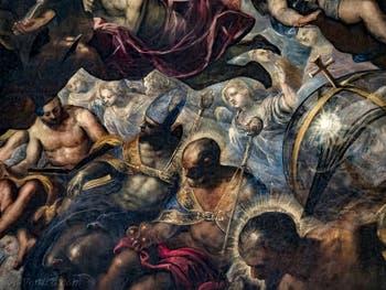 Le Paradis de Tintoret, saint Nicolas de Bari et ses trois sphères d'or, au Palais des Doges de Venise