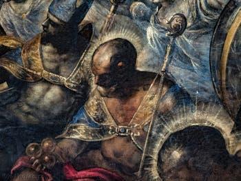 Le Paradis de Tintoret, saint Nicolas et ses trois sphères d'or, au Palais des Doges de Venise