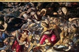 Le Paradis de Tintoret, saint Jérôme, saint Grégoire, saint Augustin, au Palais des Doges de Venise