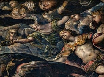 Anges couronnés du Paradis de Tintoret au Palais des Doges de Venise