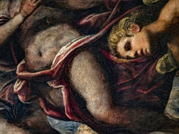 Le Paradis de Tintoret et ses anges, détail, au Palais des Doges de Venise