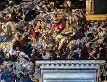 Le Paradis de Tintoret, saint Pierre, saint Jérôme, saint Grégoire le Grand, saint Augustin, saint Paul, Marie-Madeleine et saint Christophe, au Palais des Doges de Venise