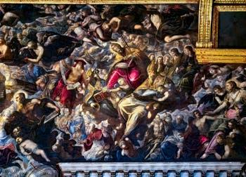 Le Paradis de Tintoret, saint Jérôme, saint Grégoire le Grand, saint Augustin, saint Paul, Marie-Madeleine, au Palais des Doges de Venise