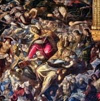 Le Paradis de Tintoret, saint Jérôme, saint Grégoire le Grand, saint Augustin, au Palais des Doges de Venise