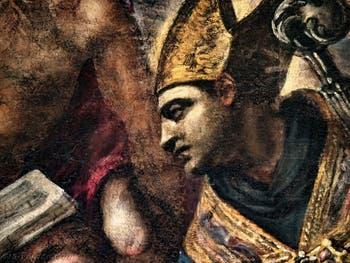 Le Paradis de Tintoret, saint Ambroise de Milan, au Palais des Doges de Venise