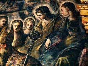 Le Paradis de Tintoret, Sainte-Monique, au Palais des Doges de Venise