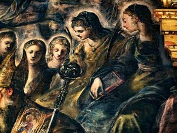 Le Paradis de Tintoret, sainte Monique, au Palais des Doges de Venise