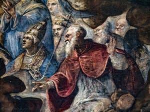 Le Paradis de Tintoret, Saint-Thomas d'Aquin, au Palais des Doges de Venise