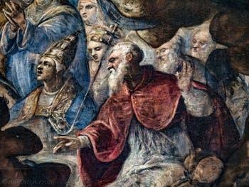 Le Paradis de Tintoret, saint Thomas d'Aquin, au Palais des Doges de Venise