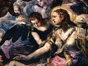 Le Paradis de Tintoret, Marie-Madeleine, au Palais des Doges de Venise