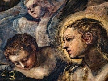 Le Paradis de Tintoret, portrait de Sainte Marie-Madeleine, au Palais des Doges de Venise