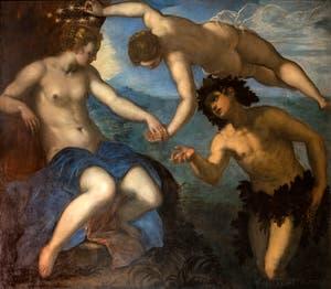 Le Tintoret, Ariane, Vénus et Bacchus dans la salle de l'Anticollège du Palais des Doges à Venise.