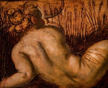 Le Tintoret, L'été, huile sur toile de 1567 au plafond du salon de l'Atrium carré du Palais des Doges de Venise