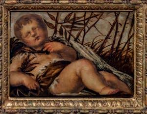 Le Tintoret, L'Hiver, huile sur toile (1567) dans le salon de l'Atrium carré du Palais des Doges à Venise