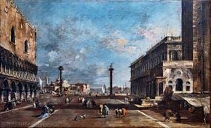 Francesco Guardi, Vue de la Piazzetta San Marco et San Giorgio Maggiore, Galerie Franchetti Ca' d'Oro à Venise en Italie