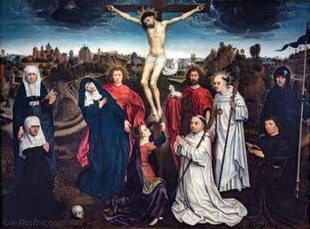 Hans Memling, Crucifixion entre Saints et Donateurs, à la Galerie Franchetti de la Ca' d'Oro à Venise