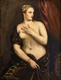 Le Titien, Vénus au Miroir à la Galerie Franchetti de la Ca' d'Oro à Venise en Italie