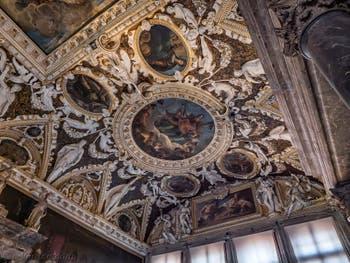 Plafond de la salle des Quatre Portes du Palais des Doges à Venise